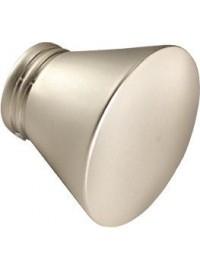 Embout Jaen pour tringle en acier D20 (la paire) - Nickel mat