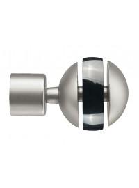 Embout Lorca pour tringle en acier D20 (la paire) - Nickel mat-Graphite